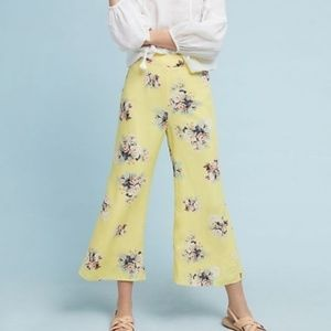 Featherbone Talese Yellow Wide Leg Floral Pant 6